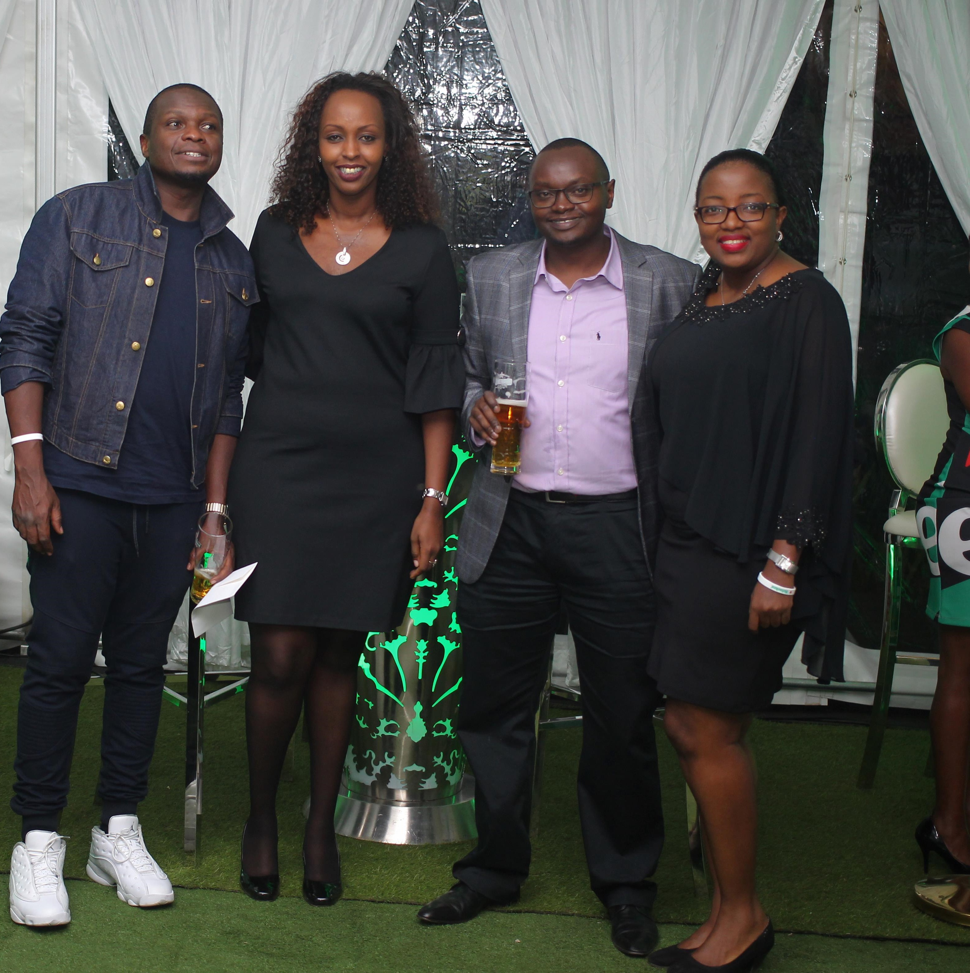 George Lutta Director 1824, Heineken Sales Capability Operations Manager Nina Ndabaneze, Finance Manager Charles Waweru and Marketing Manager East Africa Njeri Mburu all smiles.