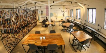 Some of the Kikao64 desks that can be booked for working either by walking in or via the website - Bizna Kenya